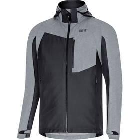 GORE WEAR C5 Gore-Tex Infinium Hybrid Hooded Jacket Men, black/terra grey